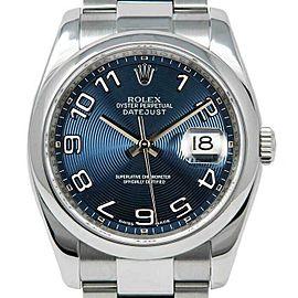 Rolex Datejust 36mm 116200 Unisex Blue Concentric Steel 36mm 1 Year Warranty