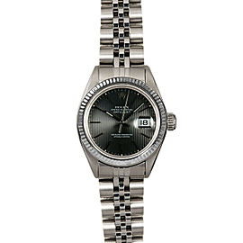 Rolex Datejust 26mm 6916 Women's Black Tapistry White Gold 26mm 1 Year Warranty