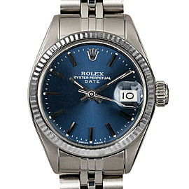 Rolex Datejust 26mm 6916 Women's Blue Index White Gold 26mm 1 Year Warranty