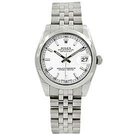 Rolex Datejust 31mm 178240 Women's White Index Steel 31mm 1 Year Warranty