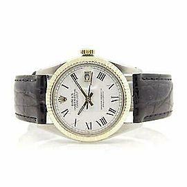 Rolex Datejust 36mm 16030 Unisex White Yellow Gold 36mm 1 Year Warranty