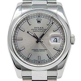Rolex Datejust 36mm 116200 Unisex Silver Index Steel 36mm 1 Year Warranty