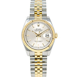 Rolex Datejust 31mm 178273 Women's Silver Index Yellow Gold 31mm 1 Year Warranty