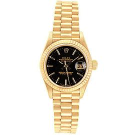 Rolex Datejust 26mm 69178 Women's Black Index Yellow Gold 26mm 1 Year Warranty