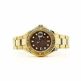 Rolex Yacht-Master 16628 Men's Tahitian MOP Yellow Gold 40mm 1 Year Warranty