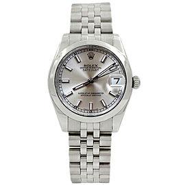 Rolex Datejust 31mm 178240 Women's Silver Index Steel 31mm 1 Year Warranty