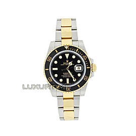 Rolex Submariner 116613 Men's Yellow Gold 40mm Automatic 1 Year Warranty