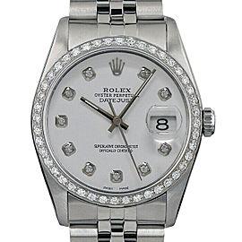 Rolex Datejust 36mm 16014 Unisex White Diamond White Gold 36mm 1 Year Warranty