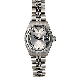 Rolex Datejust 26mm 6916 Women's Silver Roman White Gold 26mm 1 Year Warranty