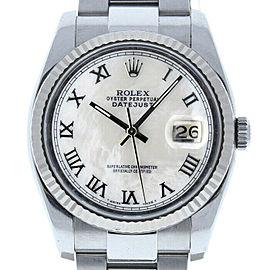 Rolex Datejust 116234 Unisex White MOP Roman White Gold 36mm 1 Year Warranty