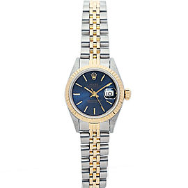 Rolex Datejust 26mm 6917 Women's Blue Index Yellow Gold 26mm 1 Year Warranty