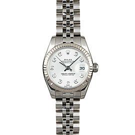 Rolex Datejust 26mm 179174 Women's White Diamond White Gold 26mm 1 Year Warranty