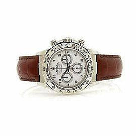 Rolex Daytona 116519 Men's White Gold 40mm Automatic 1 Year Warranty