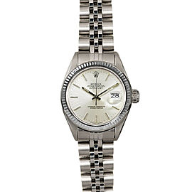 Rolex Datejust 26mm 6916 Women's Silver Index White Gold 26mm 1 Year Warranty