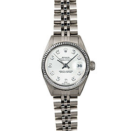 Rolex Datejust 26mm 6916 Women's White Diamond White Gold 26mm 1 Year Warranty