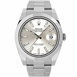 Rolex Datejust 41 126300 Men's Stainless Steel 41mm Automatic 1 Year Warranty