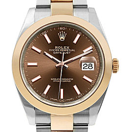 Rolex Datejust II 126301 Oyster Chocolate Steel Rose Gold 41mm 1YearWarranty