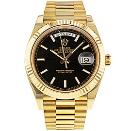 Rolex Day-Date II 228238 Men's Black Yellow Gold 40mm Automatic 1 Year Warranty
