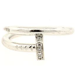 Cartier Juste Un Clou Ring Band 18k White Gold Diamond size 54 US 6.75 $4050