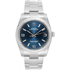 Rolex 116000 Oyster Perpetual 36 Men's Stainless Steel Blue 1 Year Warranty
