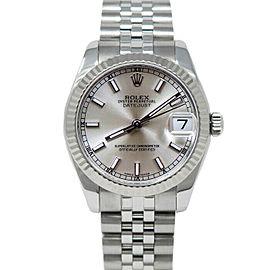 Rolex 178274 Datejust 31mm Women's Stainless Steel Silver 1 Year Warranty