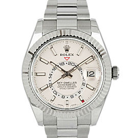 Rolex 326934 Sky-Dweller Men's Stainless Steel White 1 Year Warranty