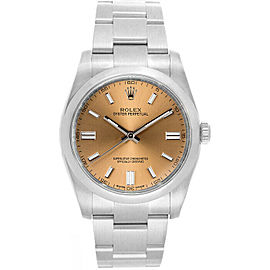 Rolex 116000 Oyster Perpetual 36 Men's Stainless Steel Salmon 1 Year Warranty