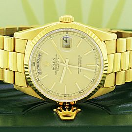 Rolex President Day-Date Yellow Gold 36mm Watch 18238 Box Papers