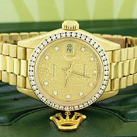 Rolex President 18K Gold Factory Jubilee Diamond Dial 26MM Automatic Watch