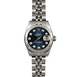 Rolex Datejust 26mm 179174 Women's Stainless Steel Automatic Blue 1YrWarranty