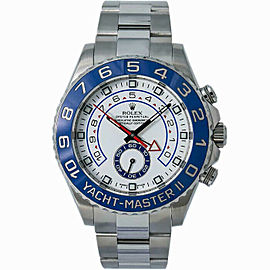 Rolex Yacht-Master II 116680 Men's Stainless Steel Automatic White 1YrWarranty