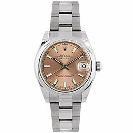 Rolex Datejust 31mm 178240 Women's Stainless Steel Automatic Rose 1YrWarranty