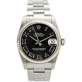 Rolex Datejust 31mm 78274 Women's Stainless Steel Automatic Black 1YrWarranty