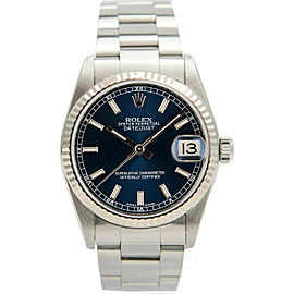 Rolex Datejust 31mm 78274 Women's Stainless Steel Automatic Blue 1 Year Warranty