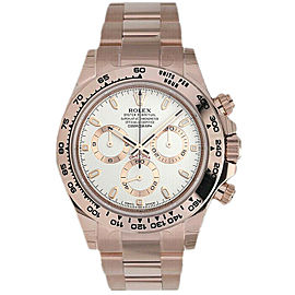 Rolex Daytona 116505 Men's Rose Gold Automatic Cream 1 Year Warranty