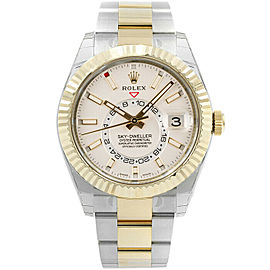 Rolex Sky-Dweller 326933 Men's Stainless Steel Automatic Cream 1 Year Warranty