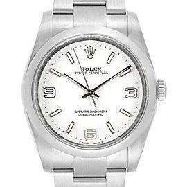 Rolex Oyster Perpetual 36 116000 Men's Steel Automatic White 1YrWarranty