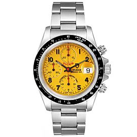 Tudor Tiger Woods Prince Chronograph Yellow Dial Mens Watch 79260