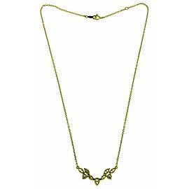Mikimoto 1.22 carat marquise and round diamond necklace 18k yellow gold