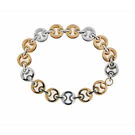 Roberto Coin Marina 18k 2 tone gold diamond bracelet size large