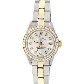 Rolex Datejust Ladies 2-Tone Gold/Steel 26MM Oyster w/Diamond Dial & Bezel