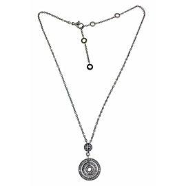 Bvlgari Bulgari Cerchi 18k white gold pave Diamond necklace