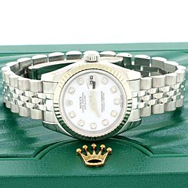 Rolex Datejust 26mm Watch w/Factory Diamond Dial 18K White Gold Bezel 179174
