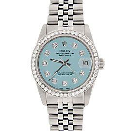 Rolex Datejust 31mm S/S Jubilee Women's Watch w/Ice Blue Dial & Diamond Bezel