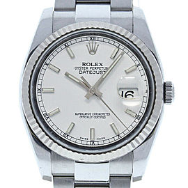 Rolex Datejust 36mm 116234 Unisex Stainless Steel Automatic White 1YrWarranty