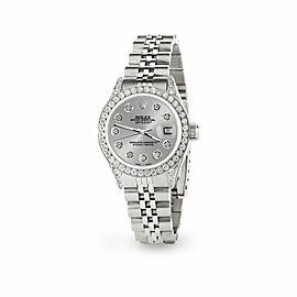 Rolex Datejust 26mm Steel Jubilee Diamond Watch with Silver Dial