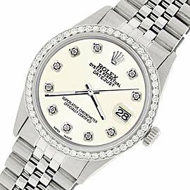 Rolex Datejust Steel 36mm Jubilee Watch/1.1CT Diamond Ivory Dial