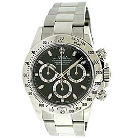 Rolex Cosmograph Daytona 40mm Black Dial Watch Box Papers 116520