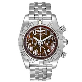 Breitling Chronomat 01 Bronze Dial Steel Mens Watch AB0110 Box Papers
