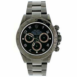 Rolex Cosmograph Daytona Black PVD Black Dial 40MM Mens Oyster Watch 116520